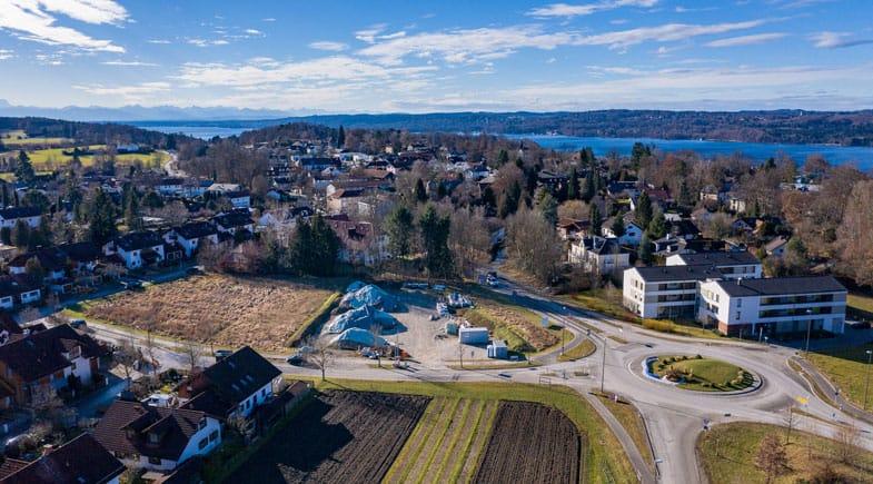 """""""Huberfeld"""" – Standort für das neue Rathaus der Gemeinde Berg"""